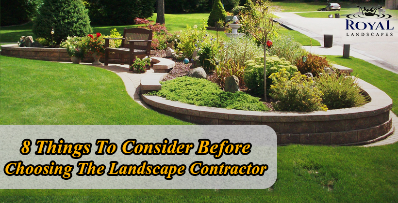Choosing The Landscape Contractor
